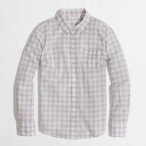 J. Crew Factory Gingham Perfect Shirt